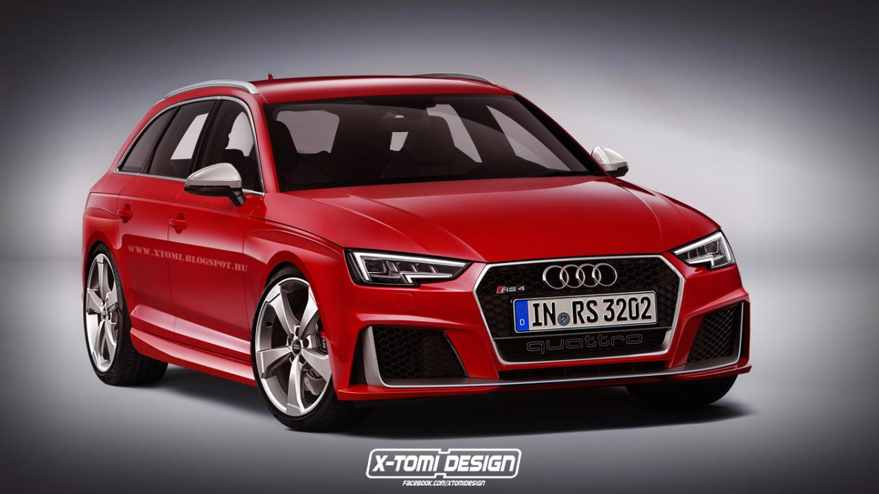 Audi Rs4 B9 Render Audi Blog